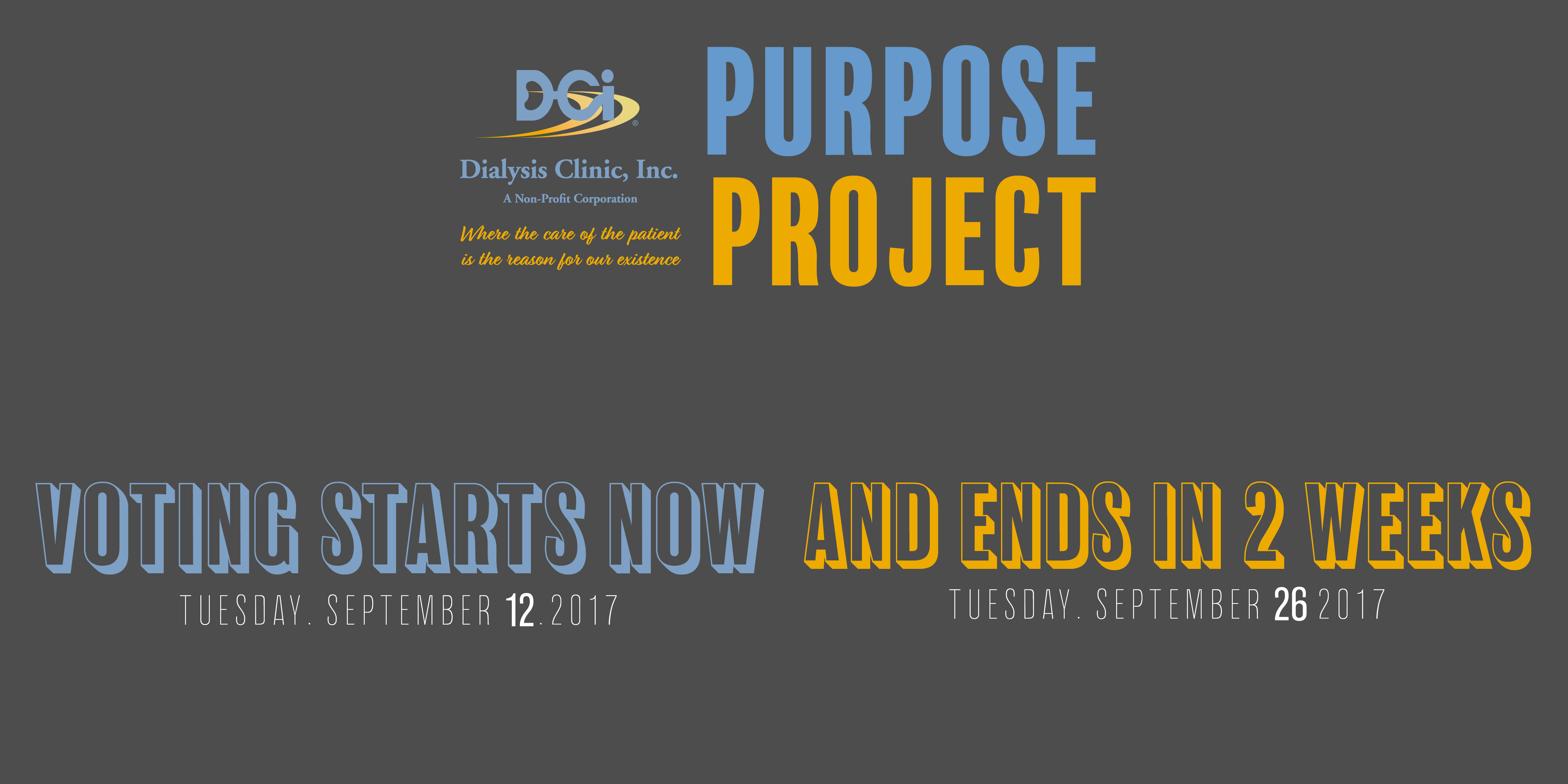 THE DCI PURPOSE PROJECT